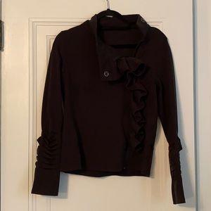 Super cute black cozy zip up sweatshirt!